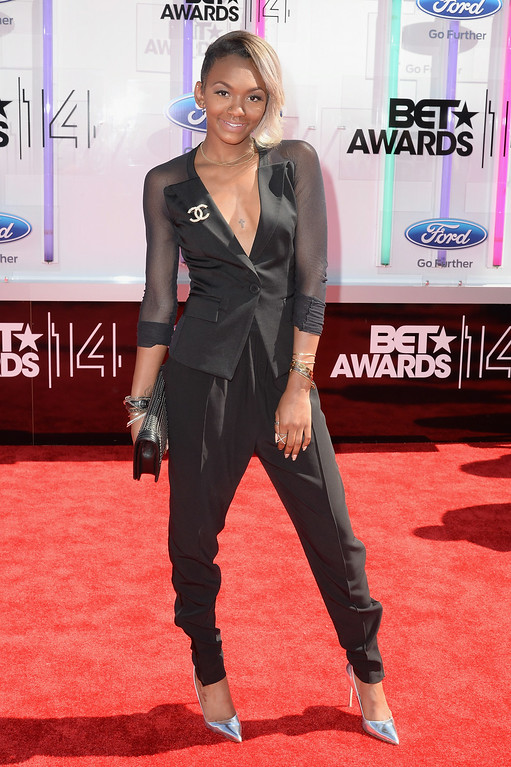 . Elisa Johnson attends the BET AWARDS \'14 at Nokia Theatre L.A. LIVE on June 29, 2014 in Los Angeles, California.  (Photo by Earl Gibson III/Getty Images for BET)