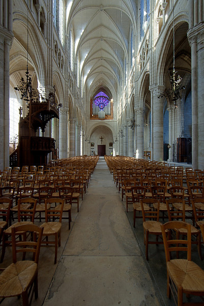Soissons, Saint-Gervais and Saint-Protais Cathedral Nave