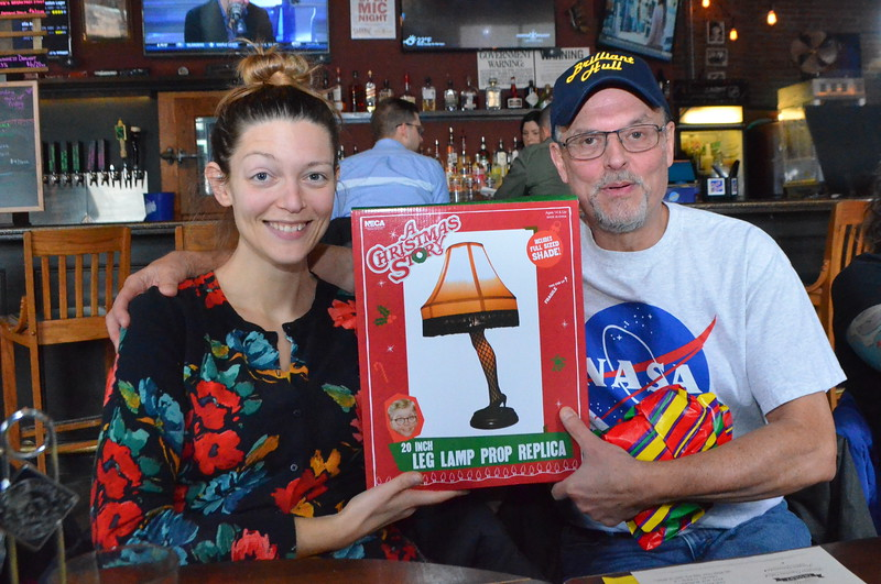 Something to remember Sarah by... a leg lamp from the A Christmas Story.