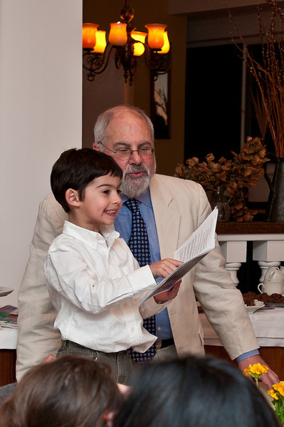 Little Luca was the cutest kid in the world while reading The Four Questions.