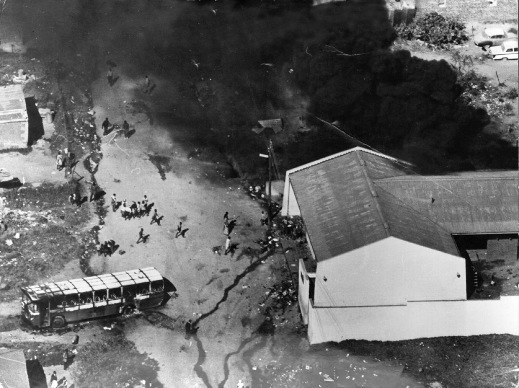 . June 21, 1976, over 100 people were killed and more than 1000 injured in South Africa following anti-apartheid protests in Soweto, near Johannesburg.    (Photo by Keystone/Getty Images)