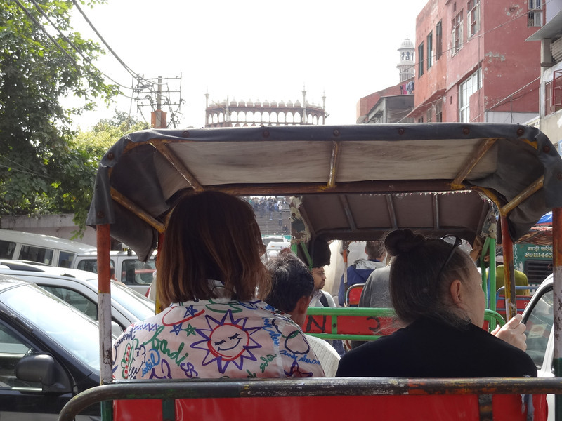 View from the pedicab