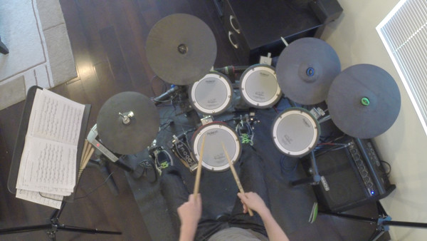 2015 - Playing Drums