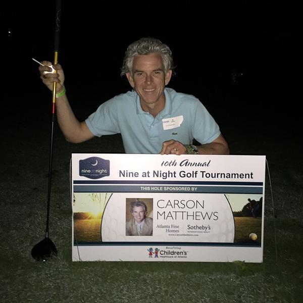 Nine at Night golf on My hole! #nineatnight #choa