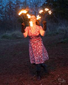 20151225  full moon christmas fire fans