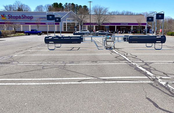 4/16/2019 Mike Orazzi | Staff An empty parking lot at the Stop & Shop on Pine Street in Forestville onTuesday.