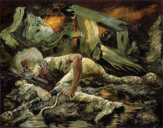 "George Grosz, ""The Survivor,"" 1944"
