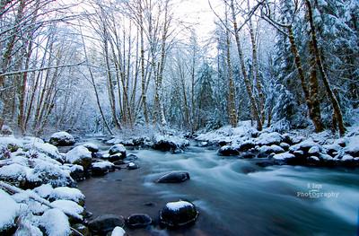 Winter , Waterfalls & Mountains