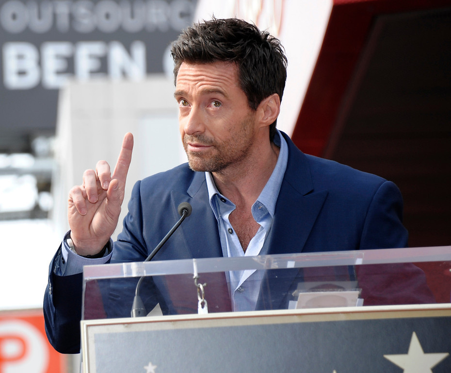 . Actor Hugh Jackman speaks at his star ceremony at the Hollywood Walk of Fame on Thursday, Dec. 13, 2012, in Los Angeles. (Photo by Dan Steinberg/Invision/AP)