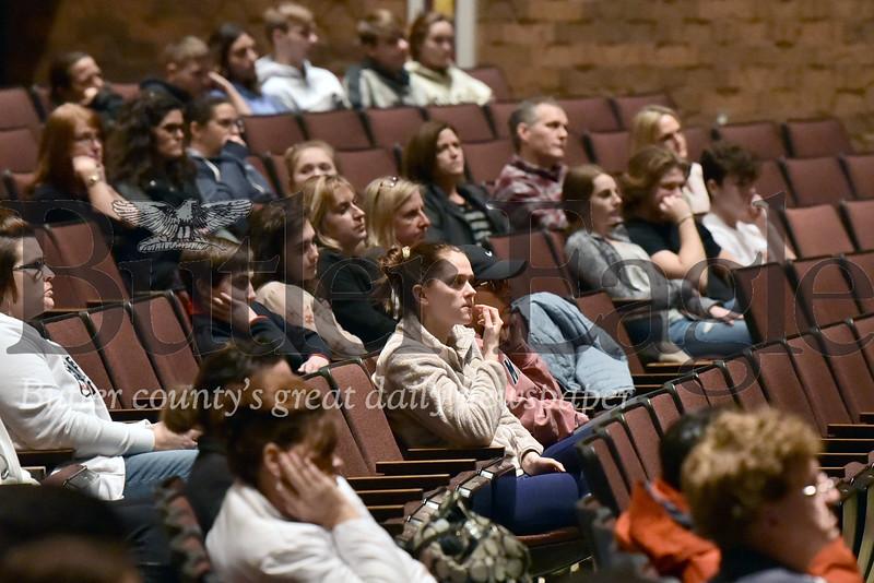 "A ""community meeting"" tonight for Rachel's Challenge at Butler Intermediate High School auditorium"