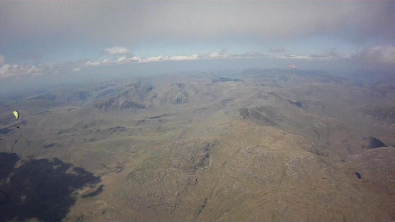 Leaving cloudbase at 5300' and heading north into Little Langdale