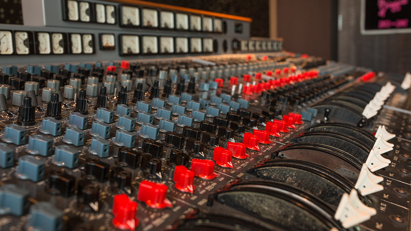 EMI TGI12345 Mark III console in The Penthouse at Jungle Studios NYC