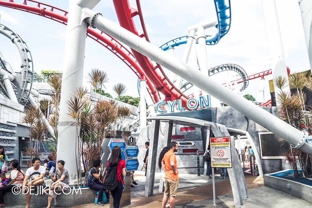 Universal Studios Singapore - Park Update September 2016 / Battlestar Galactica turning grey 3 cylon entrance