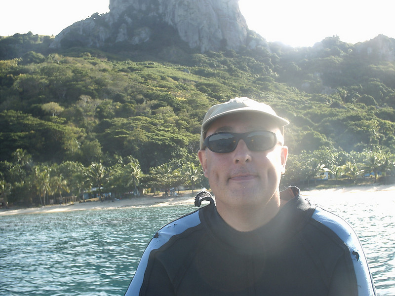 Me on the Dive Boat in Fiji