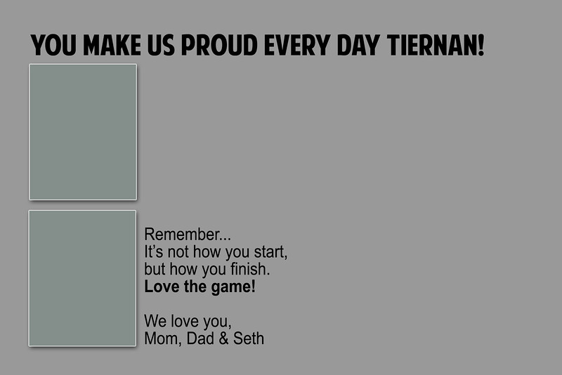 Game Day - Half Page Template
