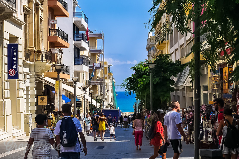 Street scene in Heraklion Crete