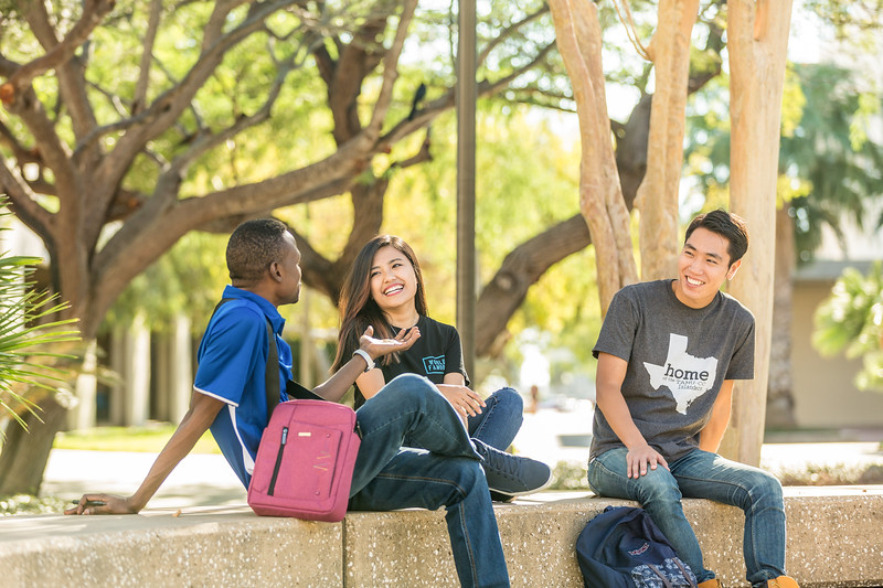 TAMU-CC international students on campus at the university.