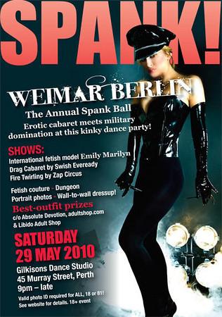 Perth Spank Fetish Ball - May 2010, Weimar Berlin