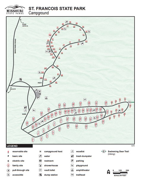 St. Francois State Park (Campground Map)