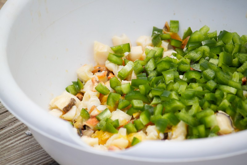 Making the conch salad