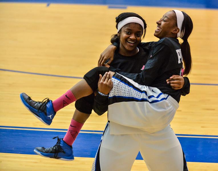 Basketball Varsity Girls vs  Weatherford 02-04-14-12