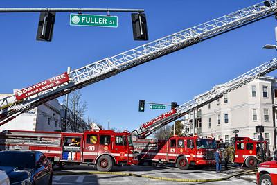 3 Alarm Structure Fire - Fuller St, Boston, Ma - 1/30/21