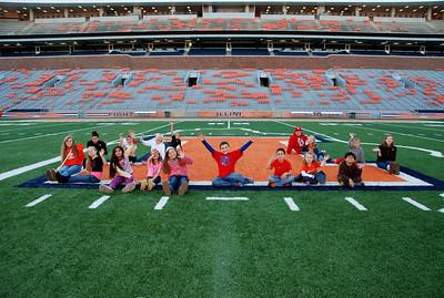 All School 4-H Club Memorial Stadium tour 2013