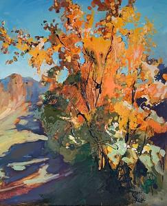 """Autumn bonfire"" (oil) by Marina Berezina"