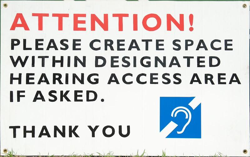 Attn hearing access area