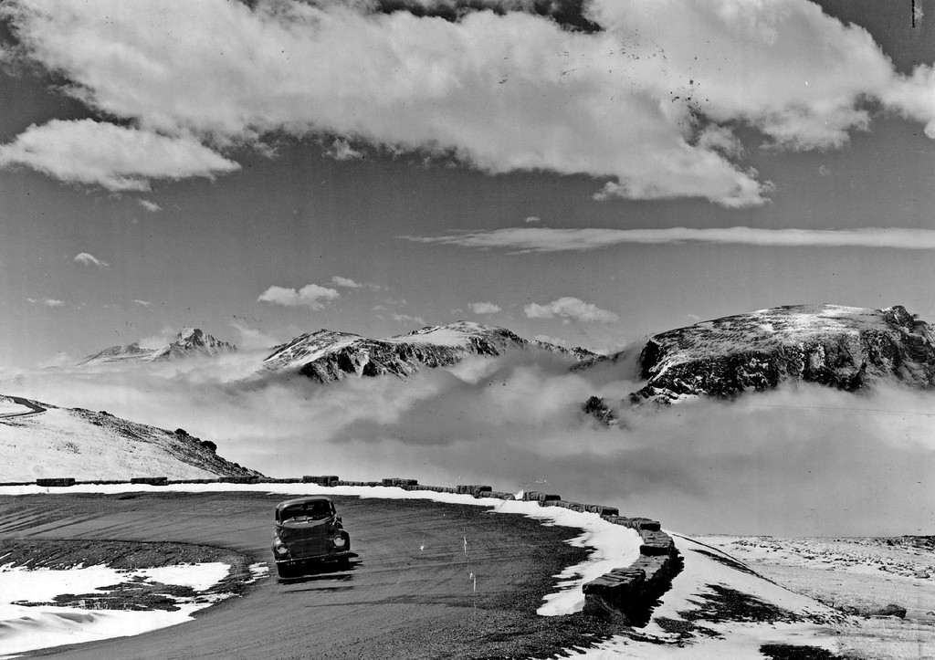 . Trail Ridge-Rocky Mountain National Park, Colo., 1940. (Denver Post Library photo archive)