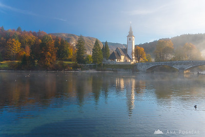 Sunrise in Bled and Bohinj - Oct 17, 2017