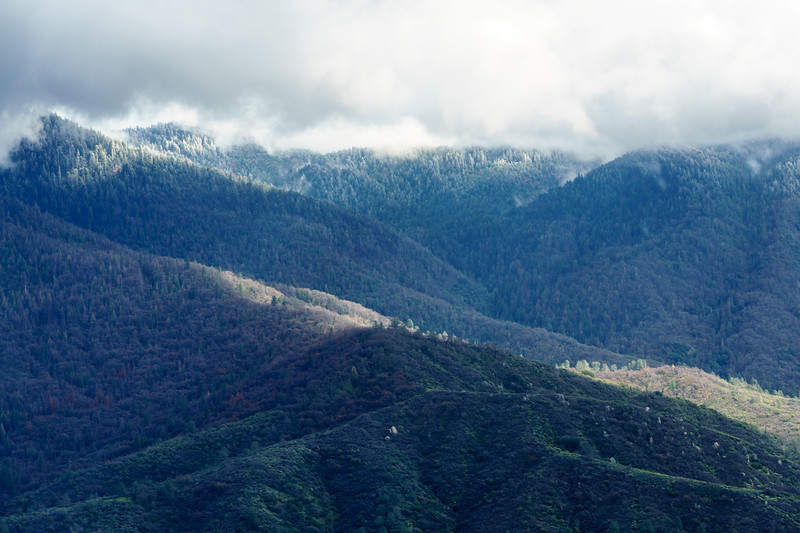 Late spring snow in the foothills of southern California.