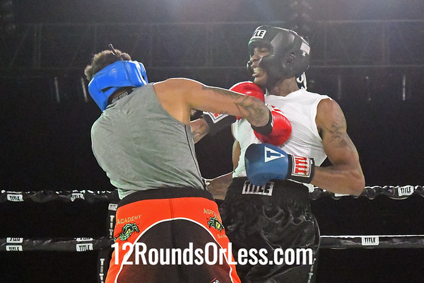 Bout #5:  Travis Charles(Blue Gloves) vs  Tony Kirksey(Red Gloves), 160 Lbs., 3 Rounds