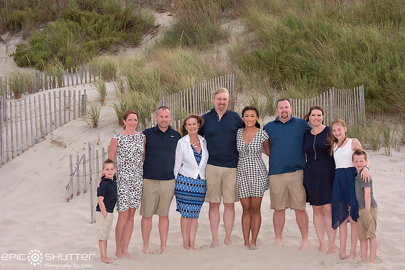 Corolla Family Vacation, Family Photos, Sunset, Corolla, Outer Banks, North Carolina, Epic Shutter Photography