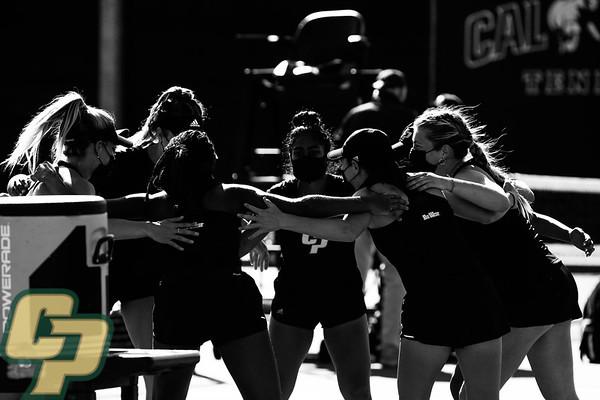 Cal Poly Women's Tennis vs. BYU 02062021