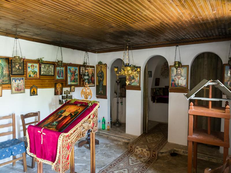Inside the 15th century chapel