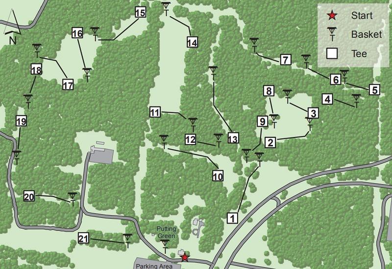 Heckscher State Park (Disk Golf Course Map)