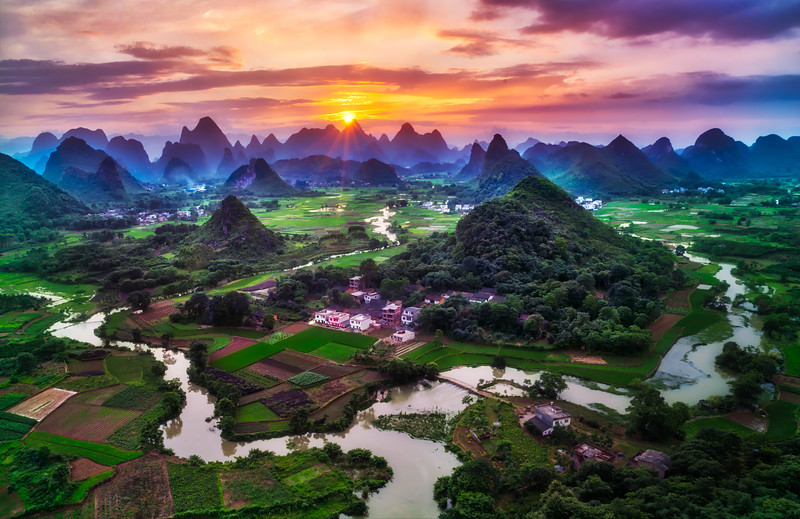 Beautiful Guilin at Sunset
