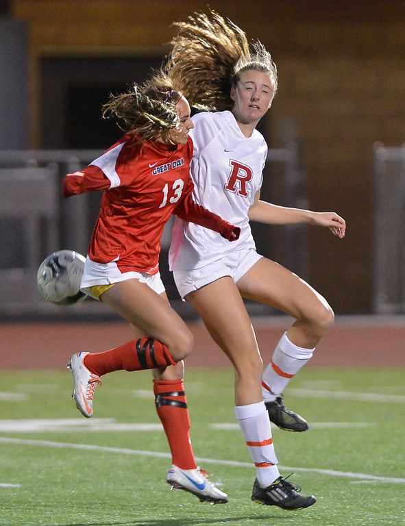 . TS20-GREATOAK-REDONDO--- Redondo Beach, CALIFORNIA--2/19/13--- Staff Photo: Robert Casillas / LANG--- Great Oak (Temecula) at Redondo girls CIF Division II soccer playoff. Great  Oak won on penalty kicks 20-19 after 0-0 overtime tie.