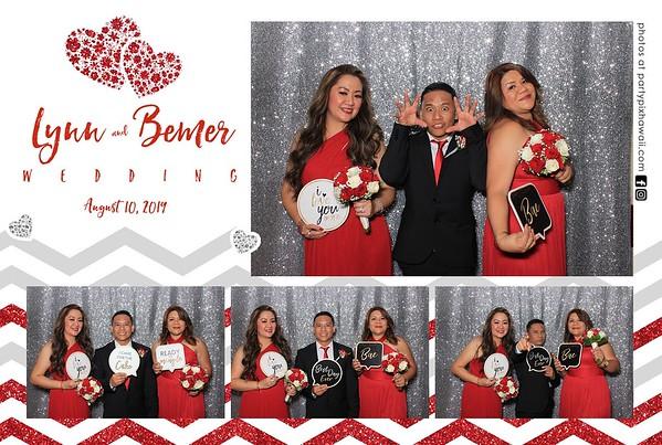 Lynn & Bemer's Wedding (LED Dazzle Photo Booth)