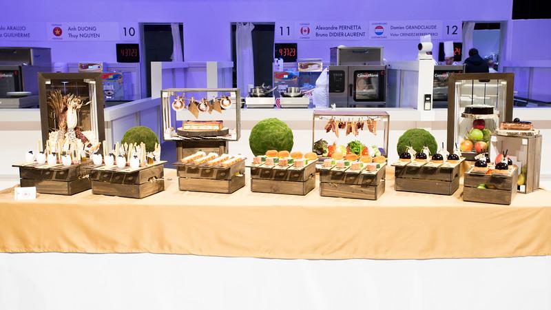 Le buffet de l'équipe du Canada qui a remporté le  Prix du plus beau « Buffet Traiteur »