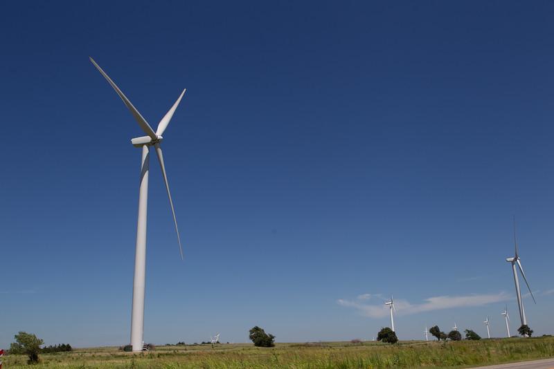 A wind farm near Okarche, OK.