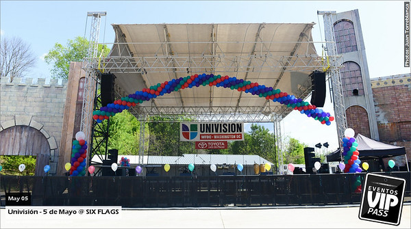 Univision - 5 de Mayo @ Six Flags | Sun, May 04