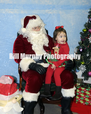 Charlee And Santa 2013, Three Years Old.