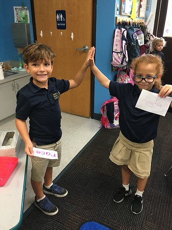 """Playing """"Sticky Hands"""" the Kagan way with our phonics cards!"""