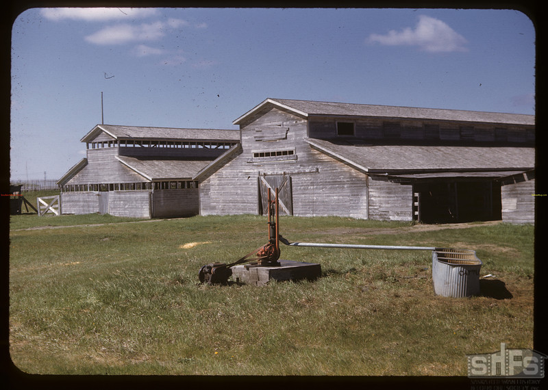 Stock pump and tank - Yorkton fair grounds.  Yorkton.  05/31/1947
