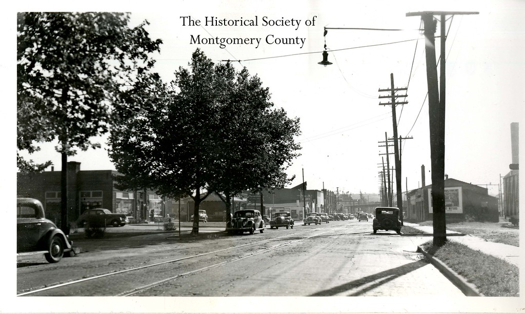 . This photo from the Historical Society of Montgomery County shows Markley Street in Norristown in the 1940s. It was taken by Hen Johnson.
