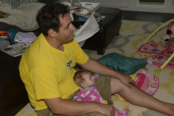 Watching TV with Daddy