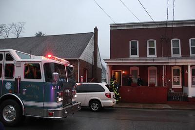 Smoke Response, Fire Companies, Elm Street, Tamaqua (12-23-2013)