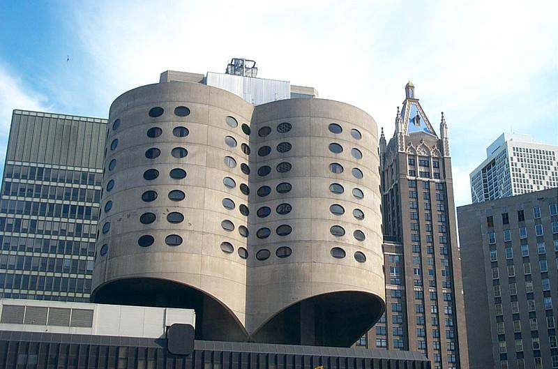 Modern building & historic building